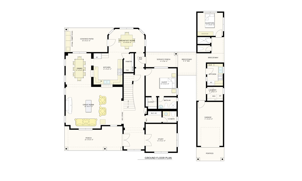 Bellview view ground floor plan revised 1000X600